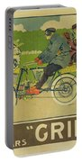 Vintage Poster Bicycle Advertisement Portable Battery Charger