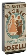 Vintage Poster Old Settlers Picnic Portable Battery Charger