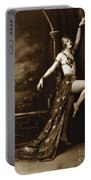 Vintage Poster Posing Dancer In Costume Portable Battery Charger
