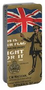 Vintage Poster - This Is Your Flag Portable Battery Charger
