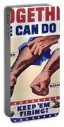 Vintage Poster - Together We Can Do It Portable Battery Charger