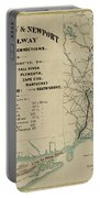 Vintage Railway Map 1865 Portable Battery Charger