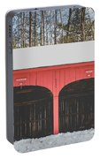 Vintage Red Carriage Barn Lyme Portable Battery Charger
