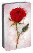 Vintage Red Rose  Portable Battery Charger