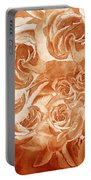Vintage Rose Petals Abstract  Portable Battery Charger