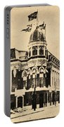 Vintage Shibe Park In Sepia Portable Battery Charger