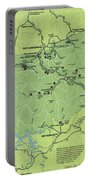 Vintage Smoky Mountains National Park Map Portable Battery Charger
