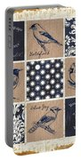 Vintage Songbirds Patch Portable Battery Charger