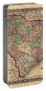 Vintage South Carolina Map Portable Battery Charger