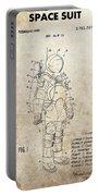 Vintage Space Suit Patent Portable Battery Charger