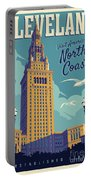 Cleveland Poster - Vintage Style Travel  Portable Battery Charger