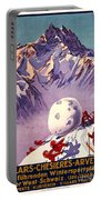 Vintage Swiss Travel Poster Portable Battery Charger
