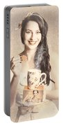 Vintage Tea Advertisement Pin-up Portable Battery Charger