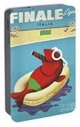 Vintage Travel Poster Italy Portable Battery Charger