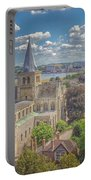 Vintage View Of The Cathedral Portable Battery Charger
