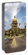 Vintage View Of The Texas State Capitol And Downtown Austin From September 1968 Portable Battery Charger