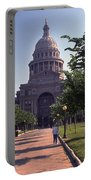 Vintage View Of The Texas State Capitol In Downtown Austin, Texas Portable Battery Charger