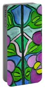 Vintage Violets Portable Battery Charger