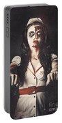 Vintage Walking Dead Horror Nurse Portable Battery Charger