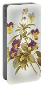 Viola Tricolour  Portable Battery Charger by Pierre Joseph Redoute