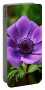 Violet Anemone Portable Battery Charger