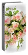 Bouquet Of Garden Roses Portable Battery Charger