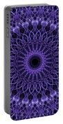 Violet Digital Mandala Portable Battery Charger