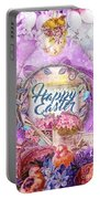 Violet Easter Portable Battery Charger