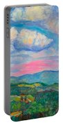 Violet Evening On Rocky Knob Portable Battery Charger