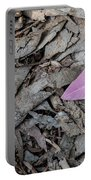 Violet Leaf On The Ground  Portable Battery Charger