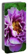 Violet Peony Portable Battery Charger