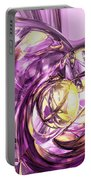 Violet Summer Abstract Portable Battery Charger