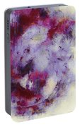 Violets Abstract Portable Battery Charger