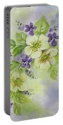 Violets And Wild Roses Portable Battery Charger