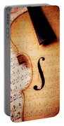 Violin And Musical Notes Portable Battery Charger