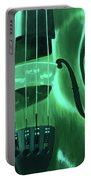 Violin In Green Portable Battery Charger