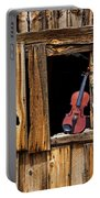 Violin In Window Portable Battery Charger