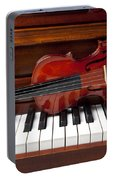 Violin On Piano Portable Battery Charger