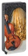 Violin Woman - Id 16218-130709-0128 Portable Battery Charger