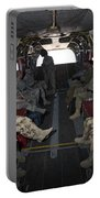 Vips In A Ch-47 Chinook Helicopter Portable Battery Charger