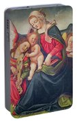 Virgin And Child And Angel Musicians  Portable Battery Charger