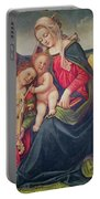 Virgin And Child And Angel Musicians  Portable Battery Charger by Piero di Cosimo