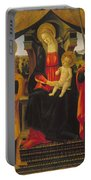 Virgin And Child Between Saint Peter And Saint Paul Portable Battery Charger