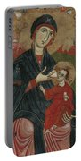 Virgin And Child Enthroned With Saints Leonard And Peter And Scenes From The Life Of Saint Peter Portable Battery Charger