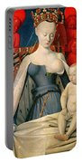 Virgin And Child Surrounded By Angels Portable Battery Charger