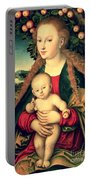 Virgin And Child Under An Apple Tree Portable Battery Charger