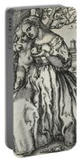 Virgin And Child With A Parrot Portable Battery Charger