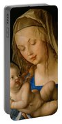 Virgin And Child With A Pear Portable Battery Charger