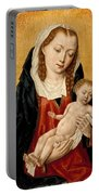 Virgin And Child With Two Angels Portable Battery Charger