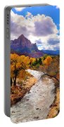 Virgin River Autumn Portable Battery Charger by Greg Norrell